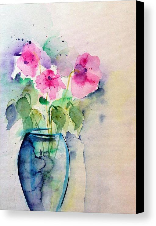 Pink Flowers In The Vase Canvas Print Canvas Art By Britta Zehm