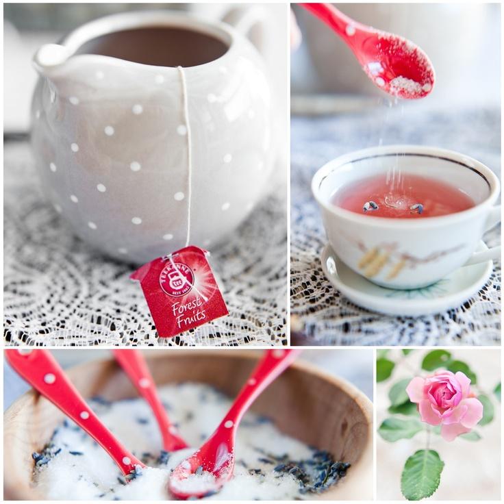 sugar lavander tea teekanne polka dots red
