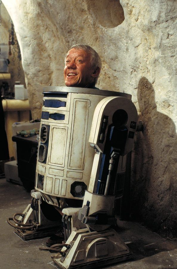 Star Wars.  My bird is R2D2, but I'm glad he doesn't look like this sitting on his perch in his cage.