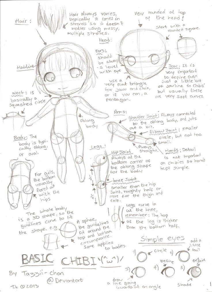 Basic Chibi Tutorial by Tazzii-chan.deviantart.com on @deviantART