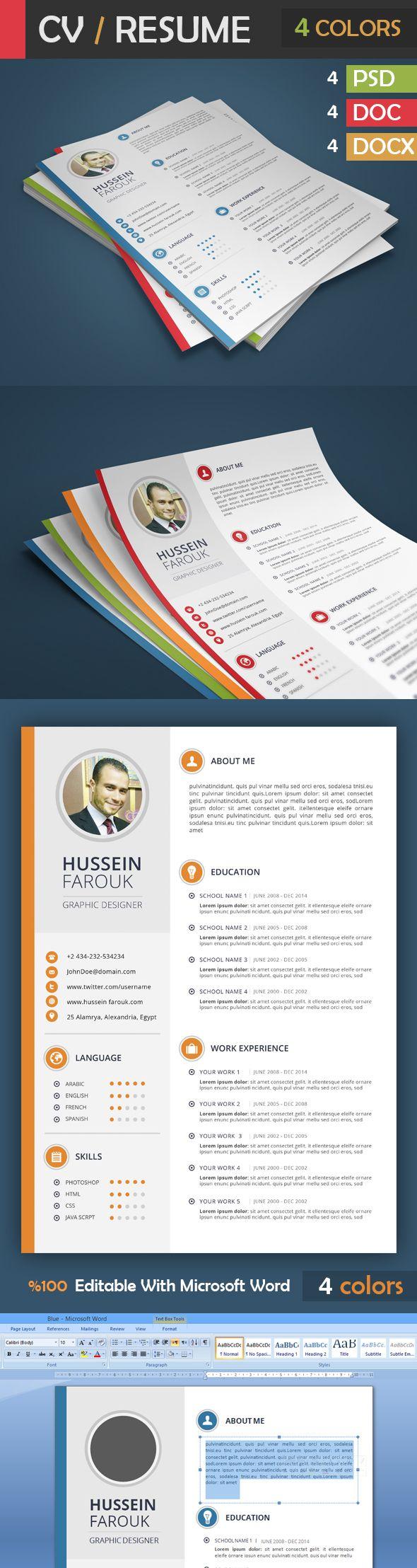 Resume on Behance 9 best images