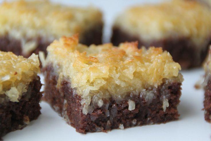 Saftig chokladkaka med segt kokostäcke | Bakverk och Fikastunder