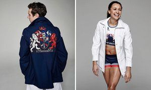 Alistair Brownlee and Jessica Ennis-Hill in the Team GB opening ceremony outfits.