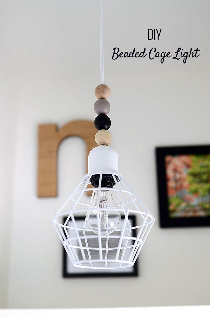 DIY Beaded Cage Light