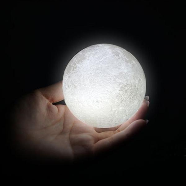 3D Moon Lamp | Moon nightlight, Night light lamp, Luna moon