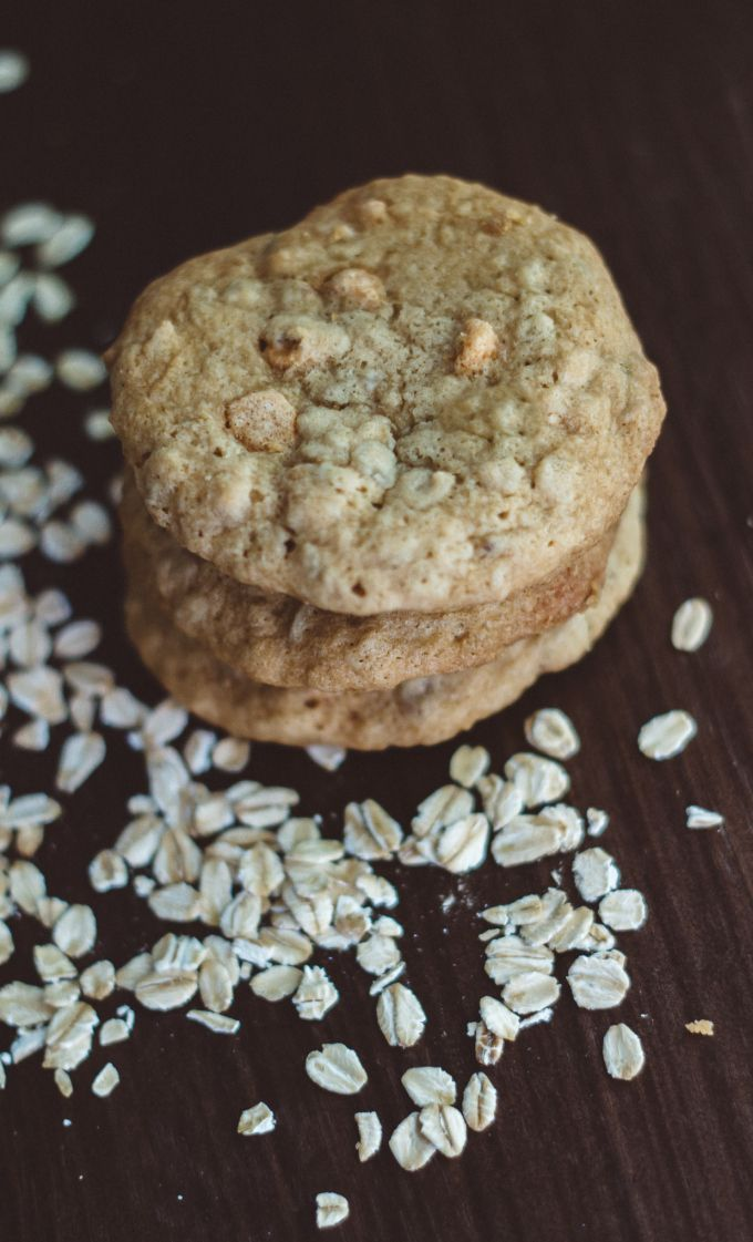 Jim Beam Bourbon Butterscotch Oatmeal Cookies