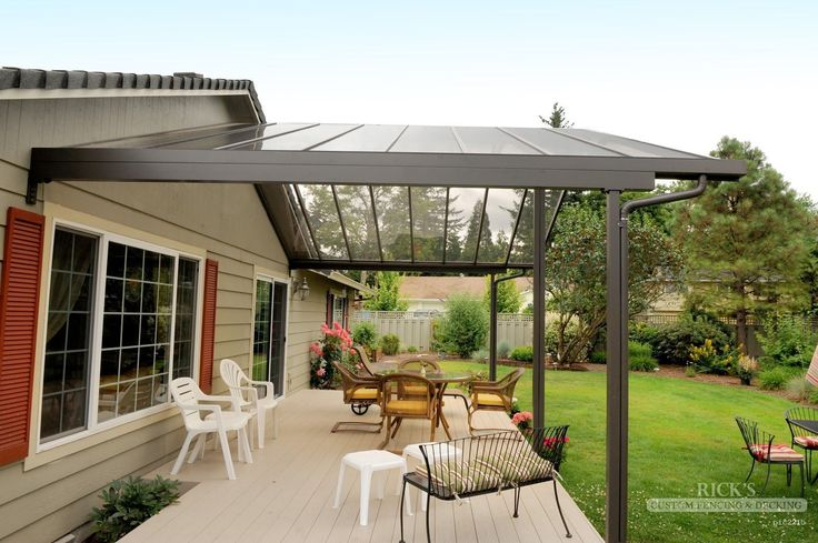 Aluminum Patio Covers U0026 Aluminum Patio Cover Kits | Ricksfencing.com   Need  A Gutter System Like This | Deck And Landscaping | Pinterest | Aluminum  Patio ...