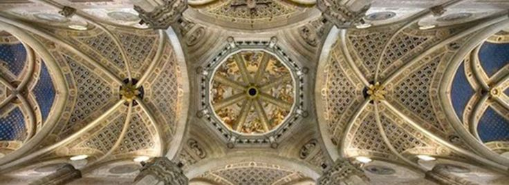The church ceiling of the #Certosa of #Pavia #Italy @youritalianconcierge.com