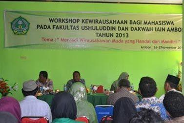 IAIN Ambon Lakukan Workshop Kewirausahaan Bagi Mahasiswa | Tribun-Maluku.com | Berita dan Informasi Seputar Maluku Terkini