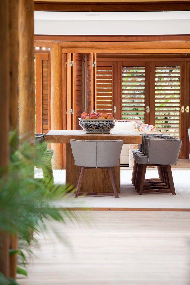 Casa Vogue BR - sala jantar madeira