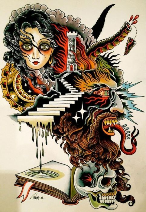 Tattoo Art by Theo Mindell