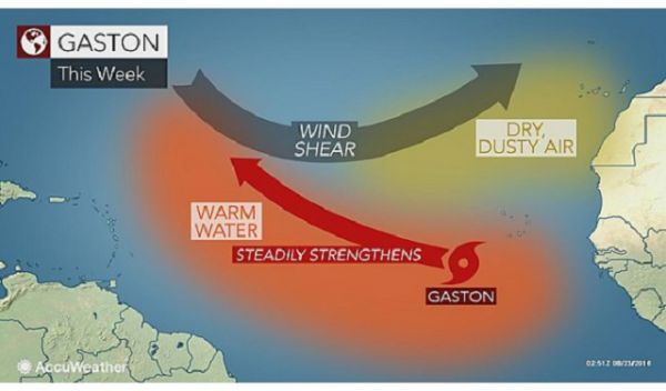Hurricane Season 2016 Storm Tracker, Maps: Tropical Storm Gaston ...