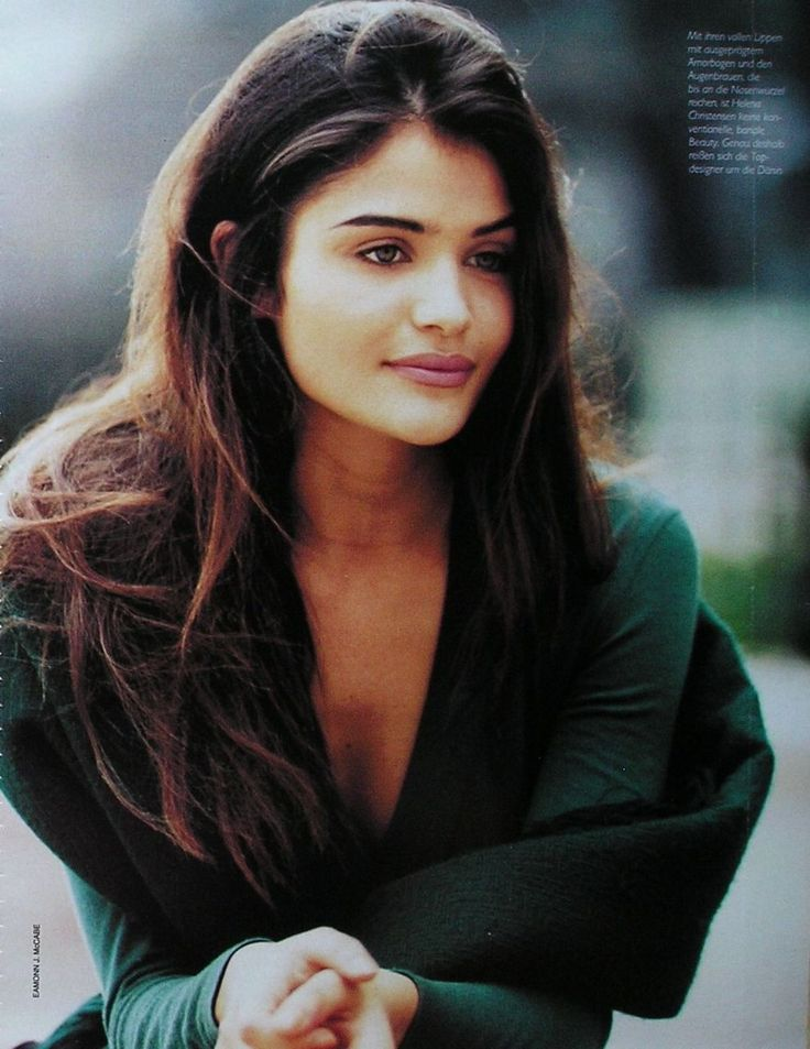 Helena Christensen - Marie Claire Germany August 1991.