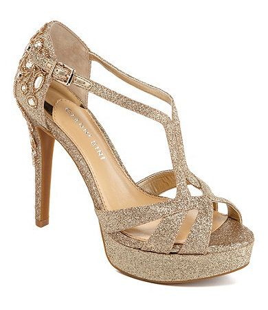 Gianni Bini Geneva Glitter Jeweled Dress Sandals