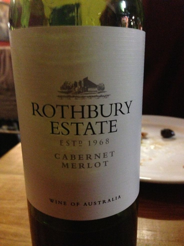 Rothbury Estate Cabernet Merlot at the Talbingo Lodge all you can eat pizza night