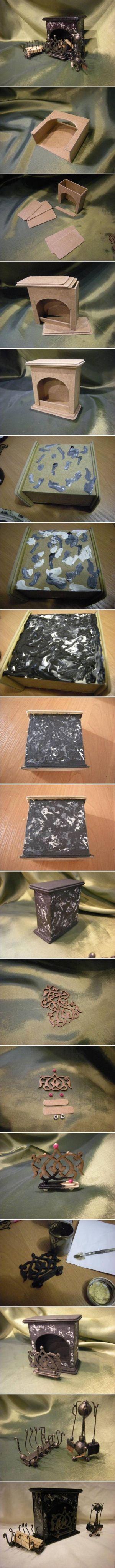 DIY Imitate Stone Fireplace DIY Imitate Stone Fireplace by diyforever