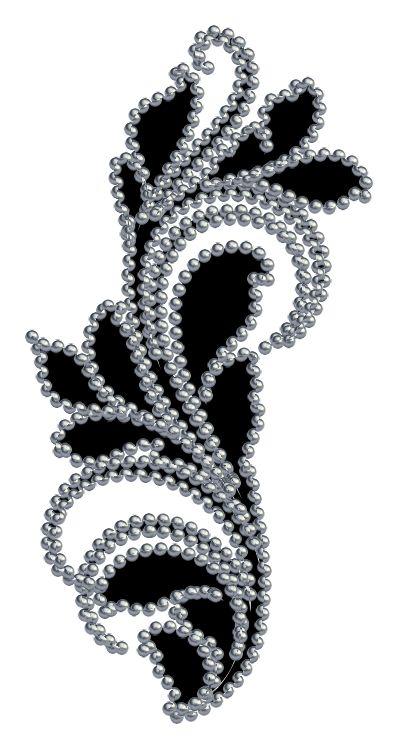 ZOOM DISEÑO Y FOTOGRAFIA: elementos florales decorados con perlas, png