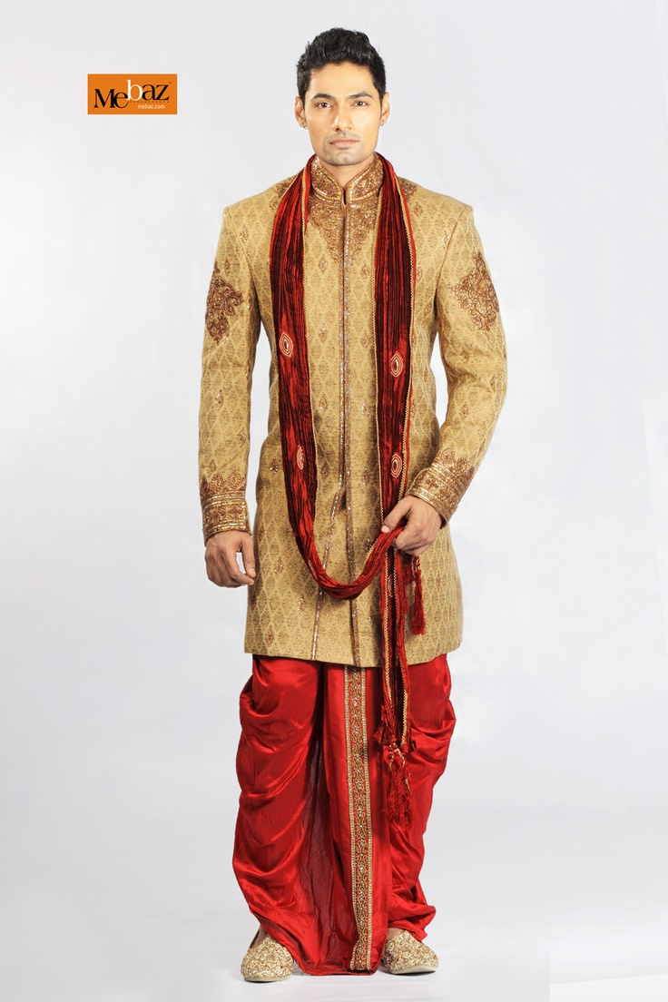 Brocade Sherwani, Mebaz, Dothi Sherwani - 368048