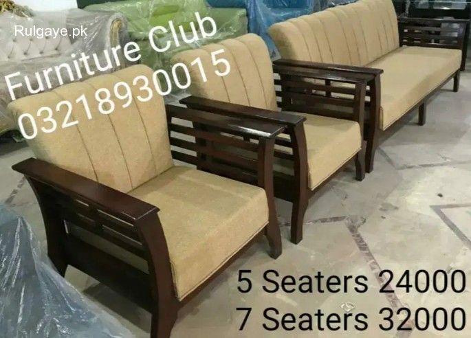 Rulgaye Brand New Sofa Set 5 Seaters Pure Sheesham Wood In 2020 Sofa Set Sheesham Wood Furniture