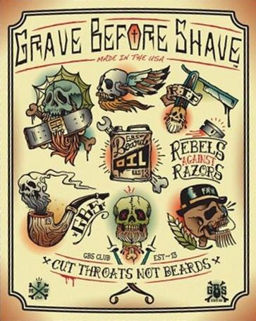 Grave before shave flash art viking tattoo ideas for Shave before tattoo