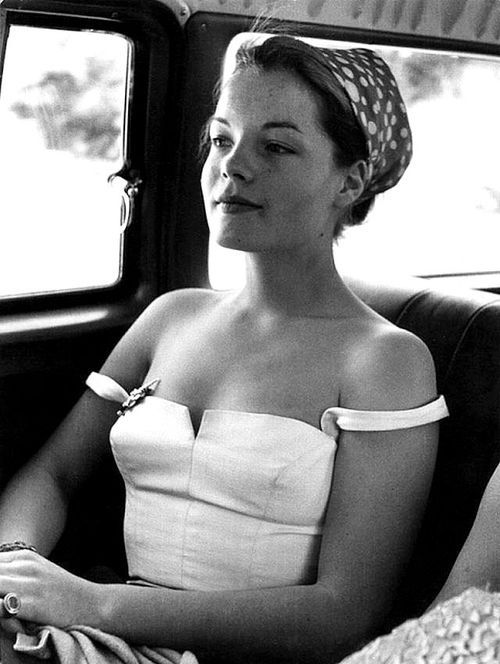 Romy Schneider. German & French actress, mostly in the 1950s. I love everything about this picture!