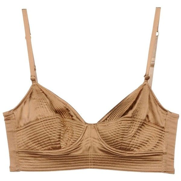 Ermanno Scervino Bra (€88) ❤ liked on Polyvore featuring camel and ermanno scervino