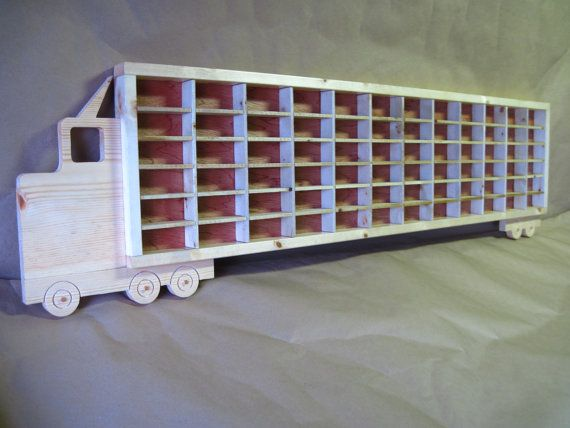 Hot Wheels Boys Wood Truck Display Case Toy Wall