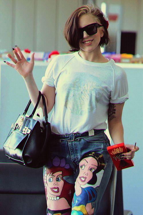 Lady Gaga with Pocky sticks!