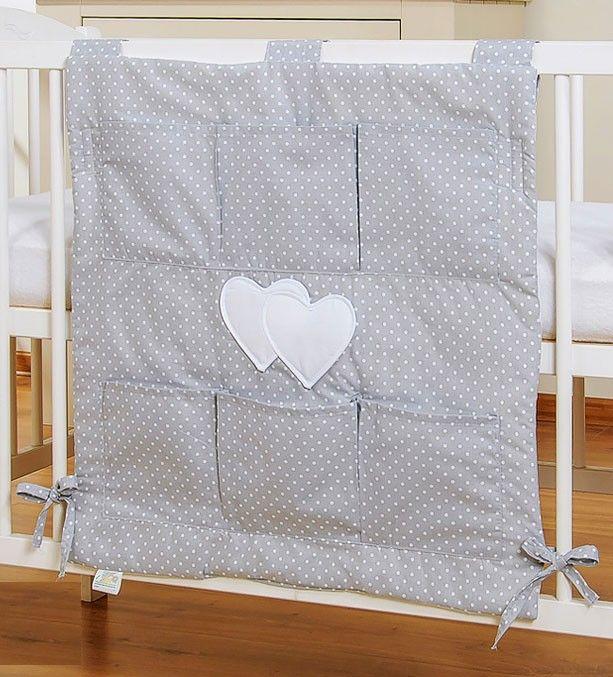 My Sweet Baby Opbergzak Two Hearts Dots/Grijs #babykamer #opbergzak