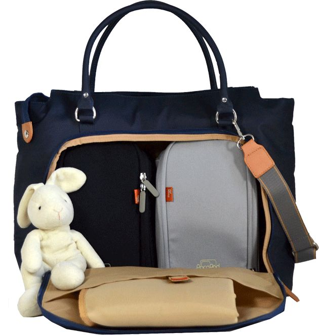 PacaPod Mirano nappy bag | large changing bag | integrated pods