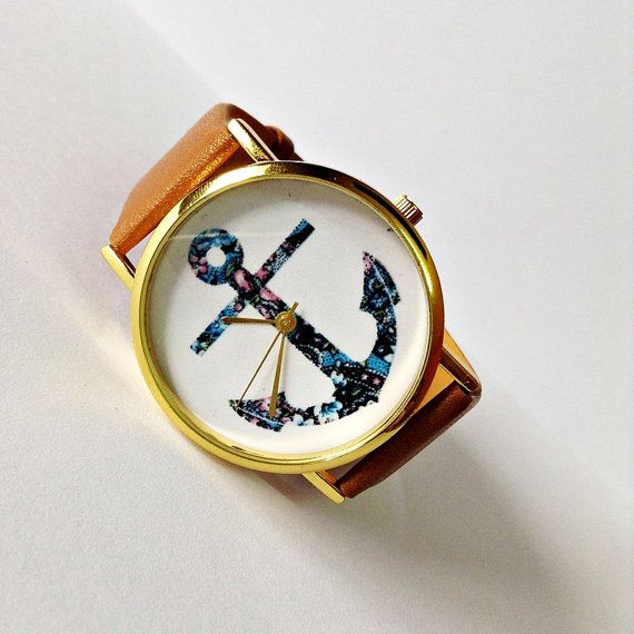Anchor Watch Nautical watch Vintage Style Leather by FreeForme, $10.00