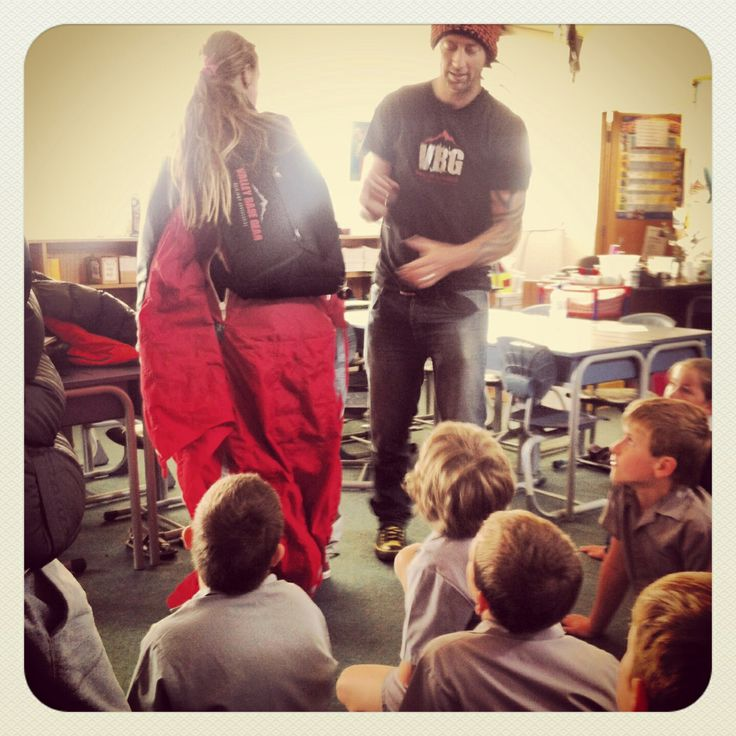 Learning to #BASEjump early - @Dan Vicary goes #backtoschool at Show & Tell, #newzealand