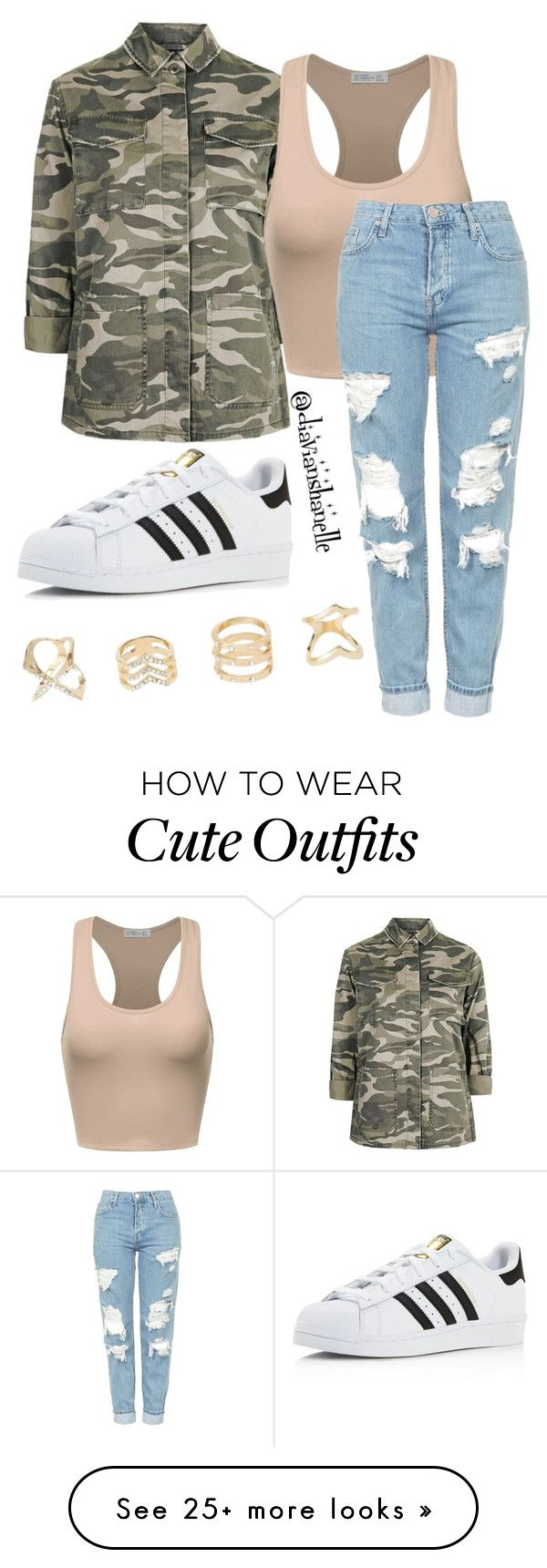 """Cute Fair Day Outfit"" by diavianshanelle on Polyvore featuring Topshop, adidas, Charlotte Russe, Fall, cute, casual and tumblr"