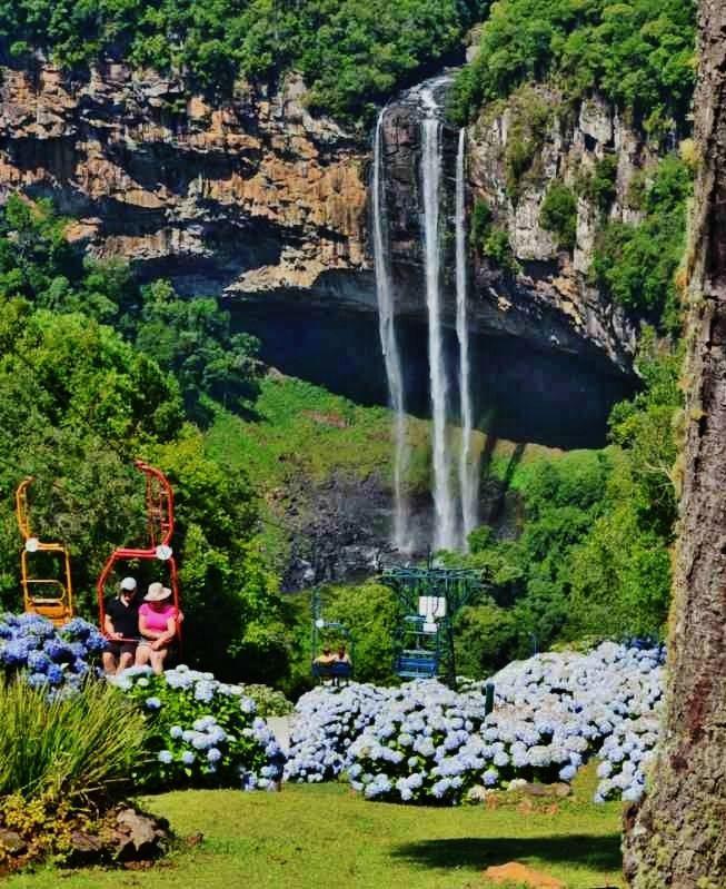 Cachoeira do Caracol em Canela, Rio Grande do Sul, Brasil