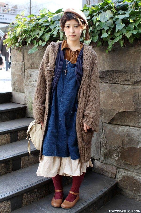 Vintage Japanese Street Fashion in Harajuku