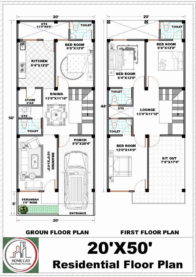 20 X 50 House Plans Unique 20x50 House Plan Narrow Lot House Plans Apartment Plans House Plans