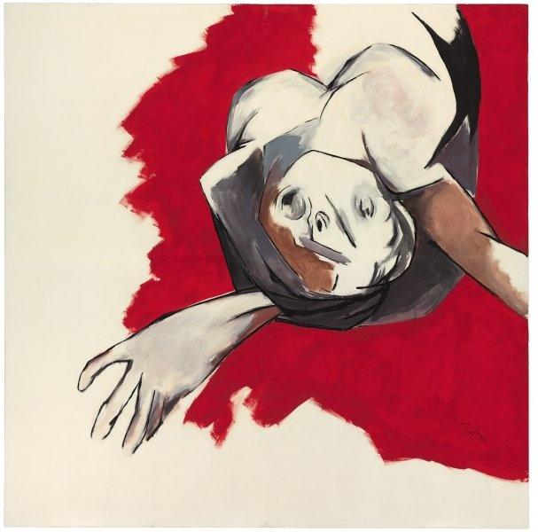 Fine Art : Tyeb Mehta - Untitled (Falling Figure) | Blouin Boutique | Christie's