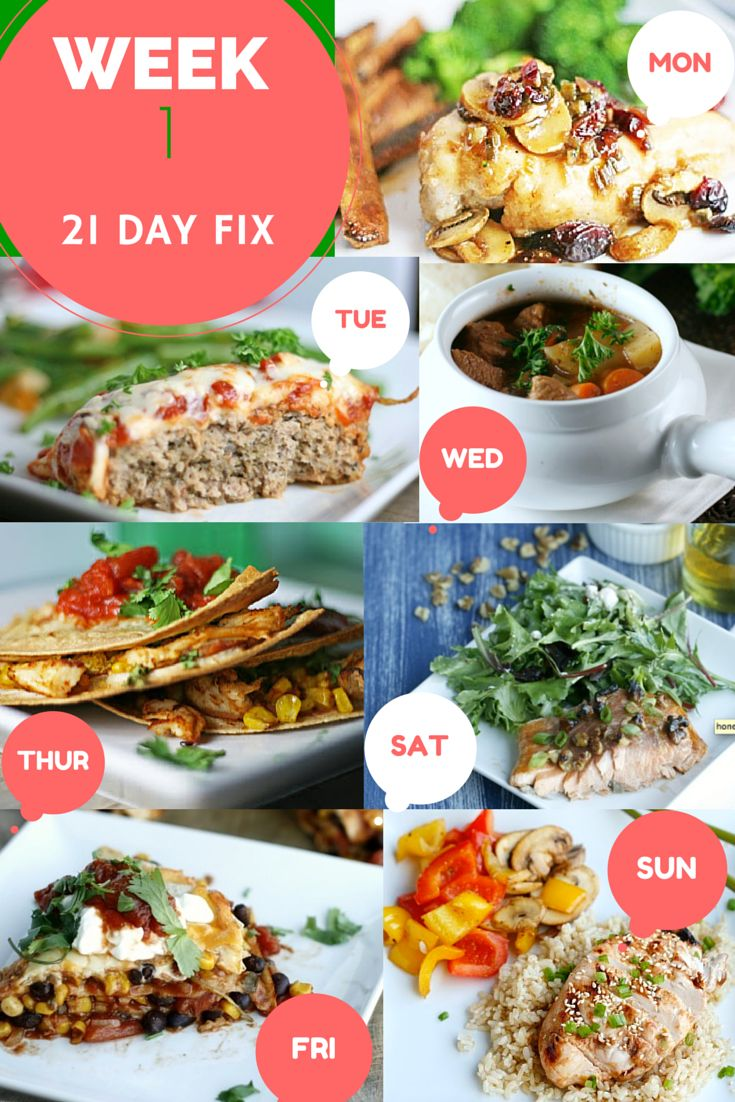 """21 Day Fix Super Woman Slim Down Dinner Menu - What do you think??? #DitchTheDiet - This is Real Food, Balanced Nutrition & Good Clean Eats Mon - Maple Cranberry Chicken Tue - Chicken Parmesan Meatloaf Wed - Healthy Beef Stew Thurs - BBQ Chicken Quesadilla Fri - Mexican Lasagna Sat - Honey and Walnut Glazed Salmon Sun - Grilled Orange Teriyaki Chicken PIN this Post and COMMENT """"Recipes"""" to Receive a FREE PDF Recipe Booklet of these and other #21DayFix Approved Recipes"""