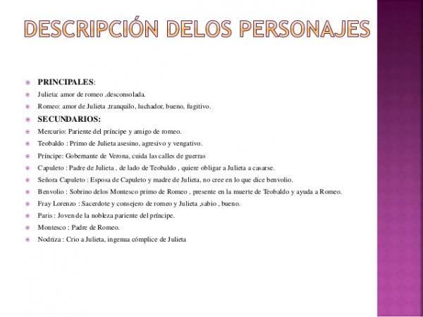 Personajes De Romeo Y Julieta Principales Y Secundarios Personajes Principales Romeo Y Julieta Romeo Y Julieta Secundaria Personajes