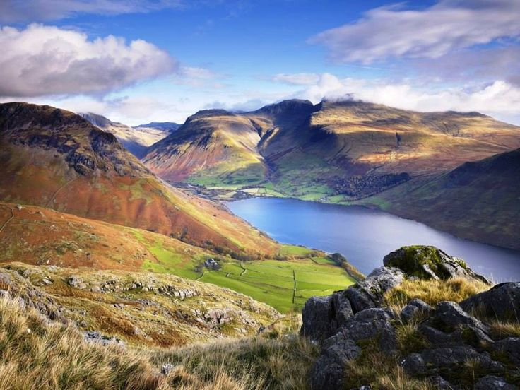 THE LAKE DISTRICT NATIONAL PARK IN ENGLAND.