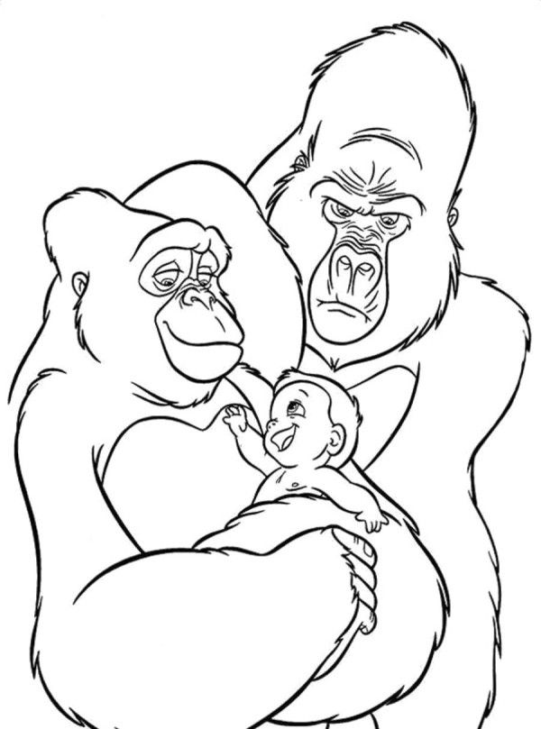 Two King Kong Coloring Pages