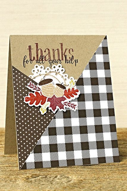 Thanks For All Your Help Card by Erin Lincoln for Papertrey Ink (August 2015)