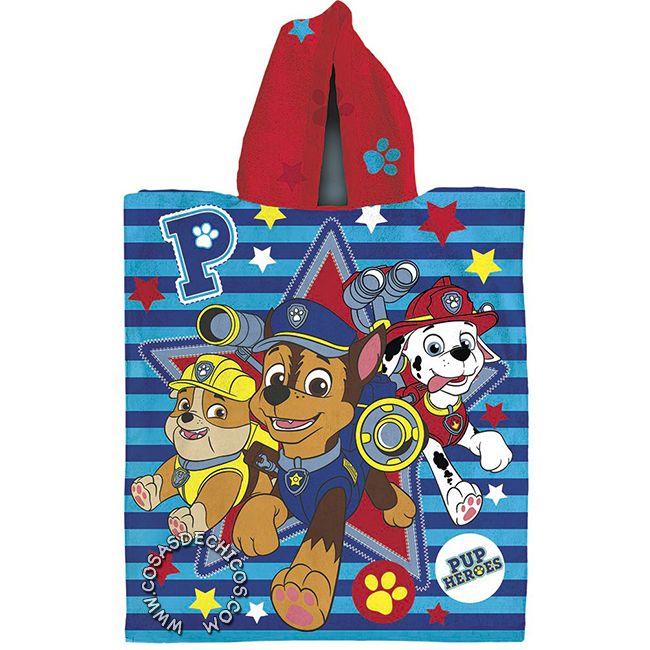 #Poncho de #Toalla #PawPatrol #PatrullaCanina #Rubble #Marshall #Chase #Towel #Piñata #Original #Policia #Bombero #Constructor #Dogs #Perros #CosasDeChicos #Kids #Indumentaria #Baño