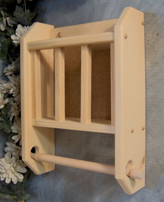 Unfinished Paint or Tole Paint Your Own Contemporary Magazine Rack with Toilet Paper Holder