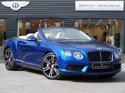 Used 2013 63 Reg Sequin Blue Bentley Continental Gt V8