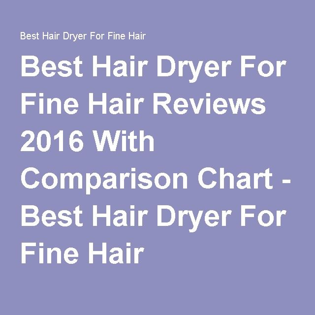 Best Hair Dryer For Fine Hair Reviews 2016 With Comparison Chart - Best Hair Dryer For Fine Hair