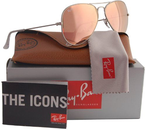 Ray-Ban RB3025 Aviator Sunglasses Matte Silver/Pink Mirror (019/Z2)