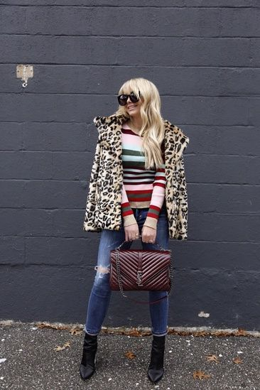 Leopard and stripe patter mixing for winter- @landlinc #ShoptheLook #ShopStyle #ssCollective