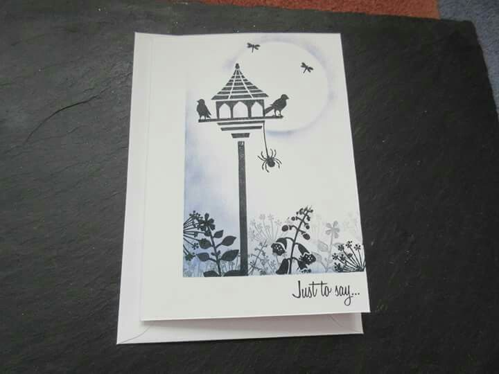 Note card using Card-io stamps