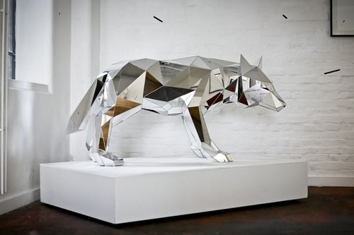 WOLF ~ Arran Gregory is a London based Artist.  His work spans from illustration to sculpture.